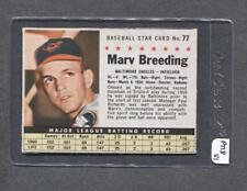 1961 Post #77 Marv Breeding (Orioles) (PT18)  Ex+  ( Flat Rate Ship)