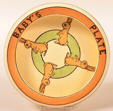 Roseville Pottery Juvenile Ware Rolled Rim Baby's Plate