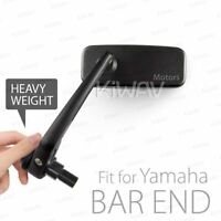 KiWAV Classic Black Heavy Weight Bar End Mirrors for Yamaha M16 Thread Bar ε