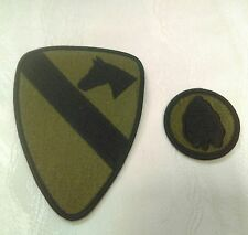 U S Army Patches Subdued 1st Cavalry Division & 24th Infantry Division Taro Leaf
