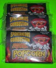 SPONTANEOUS COMBUSTION MICROWAVE POPCORN WITH GHOST PEPPER, (3) x 3.5 OZ BAGS