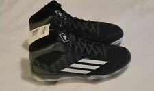 Adidas Men's Sz 12 Power Alley 3 mid Litestrike Baseball Cleats Shoes Black New