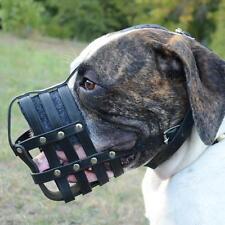 American Bulldog Muzzle UK Bestseller | Soft Leather Dog Muzzle for Bulldog