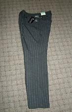 NY COLLECTION WOMENS TRIBECA STRETCH DRESS PANTS SLACKS NWT GRAY W/SILVER LINES