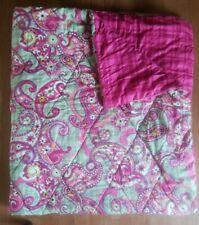Vera Bradley PAISLEY MEETS PLAID FULL Reversible Comforter, EUC.