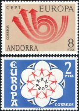 Andorra 1973 Europa/CEPT/Communication/Posthorn/Arrows/Animation 2v set (ex1061)