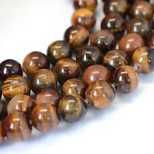 Grade AB Natural Tiger Eye Loose Beads Round 6mm