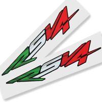 Aprilia RSV4 Motorcycle graphics stickers decals x 2 Italian flag design