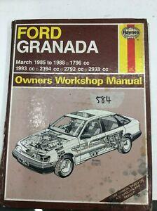 Haynes Manual Used Ford Granada March 1985 - 1988