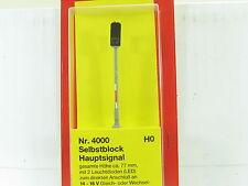 Schneider H0 4000 Selbstblock-Hauptsignal H= 77 mm 2 LED´s OVP (y2283)