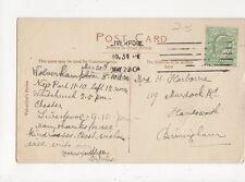 Mrs H Harborne Murdock Road Handsworth Birmingham 1910 255a