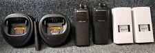 Motorola Cp200 Uhf Set of 2 Radios 4 Chan w Accessories Very Good Buy 1-7 sets