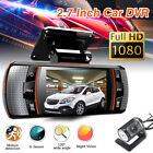 2.7'' 1080P HD Dual Lens Car Vehicle Dash Cams Camera DVR Night Vision Recorder