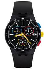 Swatch reloj hombre Cronógrafo Black-one Chrono Susb416