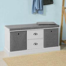 SoBuy Hallway Shoe Storage Bench Cabinet With 2 Baskets and Drawers Fsr66-hg UK