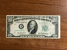 1950 B  $10 Star Note currency * Boston   *1950B  Replacement note