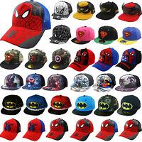 6270e10cdf484 Kids Boys Superhero Baseball Cap Children Hip Hop Trucker Snapback Sport  Hats