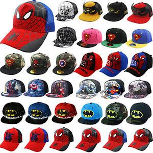 Basecap Kappe Baby Jungen Mädchen Superman Spiderman Batman Baseball Cap Hut NEU