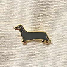 Pins Jewelery Enamel Gold plated finish Dachshund Pet Dogs Pin Badge Brooch