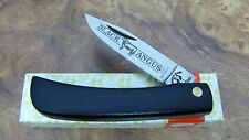 Kissing Crane Sodbuster Knife (Rare-Mint) BLACK ANGUS (Nice Blade Snap) Germany