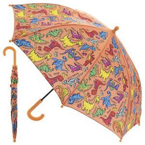 Dinosaur Drawing Design Kids Children School Outdoor Sunny Rainy Day Umbrella