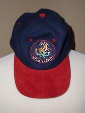 Vintage Hickstead Breyer blue/red adjustable wool baseball hat cap, one size