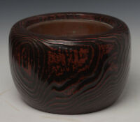 Late 19th Century, Meiji, Japanese Keyaki Wooden Hibachi Vessel
