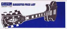 ORIGINAL Vintage January 1 1975 Gibson Guitars Brochure Catalog