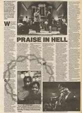 18/11/89Pgn20 Article & Picture 'praise In Hell' Bebe & Cece (winan) Praise The