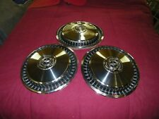 1969 THROUGH 1979 FORD USED ACCESSORY SET OF (3) LARGE Hubcaps, Wheel Covers.