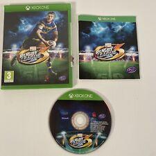 Xbox Live 3 completa de la Liga de Rugby One con manual de excelentes condiciones raras