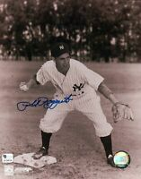 Phil Rizzuto Signed 8X10 Photo Autograph Yankees Foot on Base Auto GAI COA