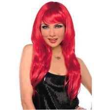 Glamorous Halloween Dress up Costume Hair Long Red Wig