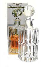 Crystal Clear GENEVA Whiskey Decanter 25 oz Lead Crystal- 24% NEW
