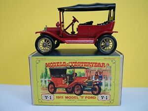 MATCHBOX MODELS OF YESTERYEAR Y1 - 1911 FORD MODEL T - RED - EARLY ISSUE
