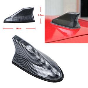 Car Carbon Fiber Shark Fin Roof Antenna Radio AM/FM Signal Aerial Car Accessory