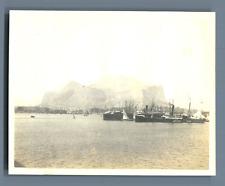 "Italia, Palermo, Porto. Navi - ""SS Livorno"" e ""Jacobsen"" Vintage silver print. V"