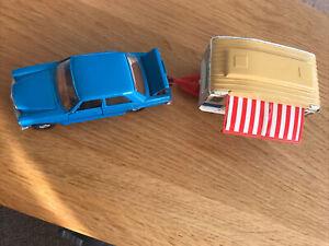 Corgi Mercedes Benz 240D And Caravan GS24 Set, Car Near Mint caravan good