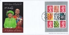 """GB Queen's 95th Birthday, """"95"""" stamp pane FDC with new Machin No source and M21L"""