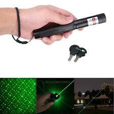 Powerful Light Green Laser Pointer Pen Keychain Safety Key With Star Cap  hv2n