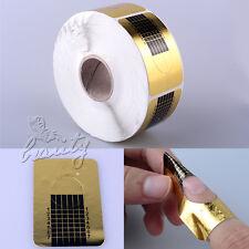 500x Modellier Schablone Nagelschablonen Gold Verlängerungs für Nail Art UV Gel