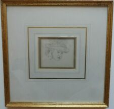 SIR JOHN EVERETT MILLAIS 1829-1896 ORIGINAL SIGNED DRAWING 'PORTRAIT OF A GIRL'