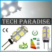 10x Ampoule 9 Led SMD 5050 G4 12V DC Dimmable 3W blanc froid SDB HOTTE...