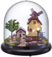 Flever Dollhouse Miniature DIY House Kit Creative Room with Furniture and Glass
