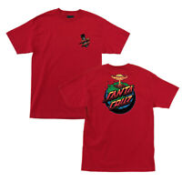 Santa Cruz Doom Dot T Shirt Tee Skateboard Kendall Red New Size M L XL XXL 2XL