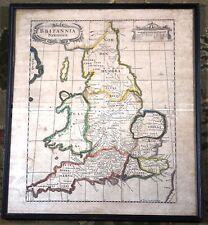 Britannia Saxonica Robert Morden Vintage Original Antique Map London 1695 Rare