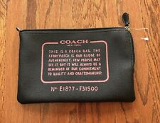 NWOT COACH Black Large Pouch Leather