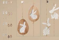 SET DE DOS Guirnalda Decoración Pascuas Conejo Huevo Madera Colgante ventana