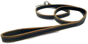 NEW HAND-CRAFTED Leather Dog Leash Walking Training Lead 5FT Long Handmade Lead