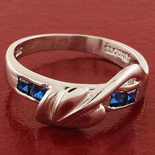 14 Carat White Gold Sapphire Eternity Fine Rings